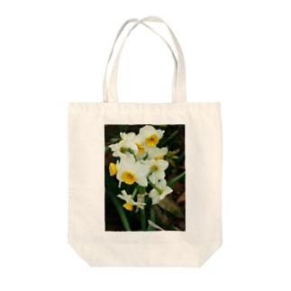 水仙 スイセン DATA_P_100 春 spring Tote bags