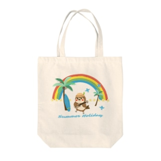 aliveONLINE SUZURI店のだいきち(サマホリ) Tote bags
