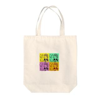 歌うガール&聴くうさ子 Tote bags