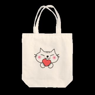 eigoyaのハートと白猫 Tote bags
