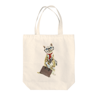 Rock catのサラリーキャット Tote bags