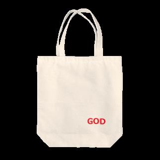 アメリカンベースのGOD 神様 Tote bags