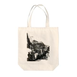 ひとり Tote bags