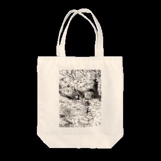 どせいのわっかの森の道 Tote bags