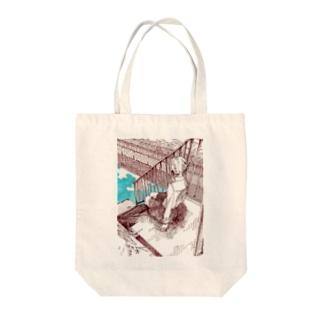 川沿いの Tote bags