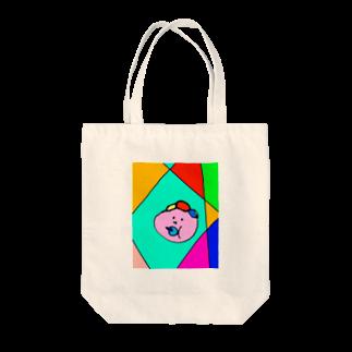 157_imのマイベイビー カラフル Tote bags