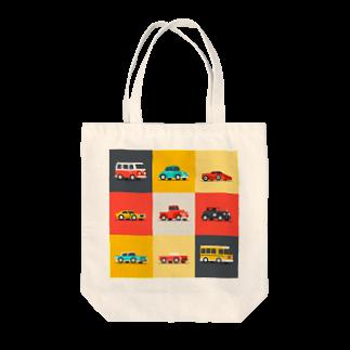 KUSUKUSU-COMPANYのレトロカラーの車 Tote bags