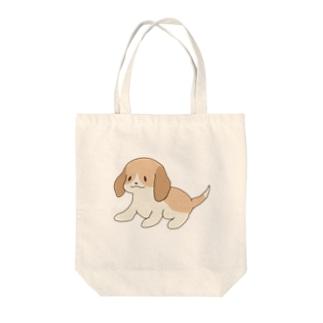 ビーグル(レモンカラー) Tote bags