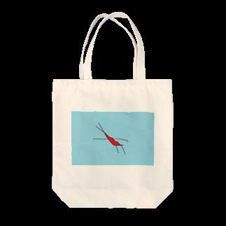 水草のエビ Tote bags
