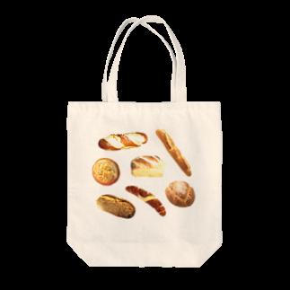 フラミンゴ洋裁店のパン Tote bags