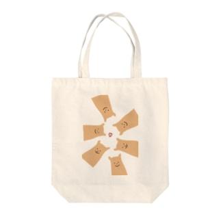くまのビスケット Tote bags