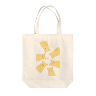 くまのふわふわビスケット Tote bags