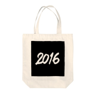 2016正月グッズ SQUARE 666 BLACK Tote bags