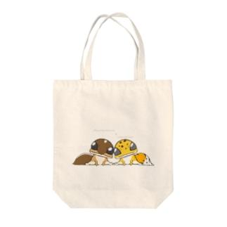 ぴよのカエル屋さんのニシアフ&レオパ Tote bags