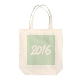 2016正月グッズ SQUARE FRESH GREEN Tote bags