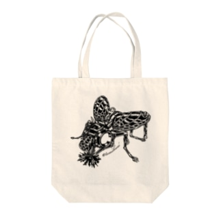 "Animalia Kinky "" Black Fly "" Tote bags"