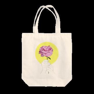 猫とアメジストの芍薬 Tote bags