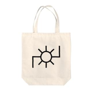 地図記号シリーズ【発電所】 Tote bags