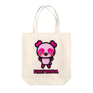 PINKY PANDA Tote bags