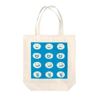 まるてん達 ブルー Tote bags