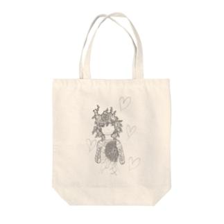 愛する心 Tote bags