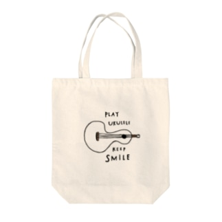 PLAY UKULELE KEEP SMILE  Tote bags