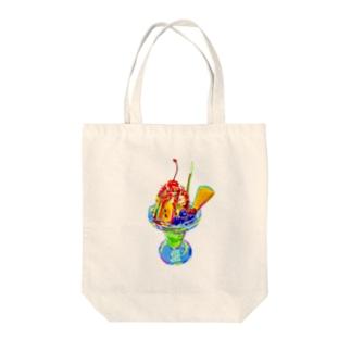 カラフルパフェ Tote bags