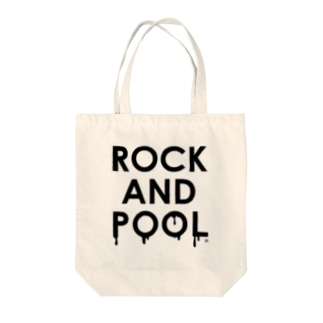 ROCK AND POOL Tote bags