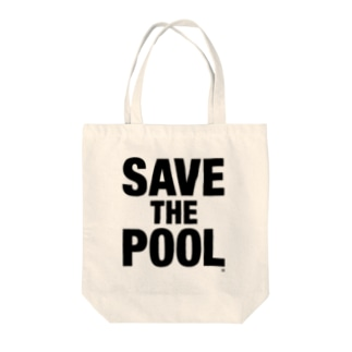 SAVE THE POOL Tote bags