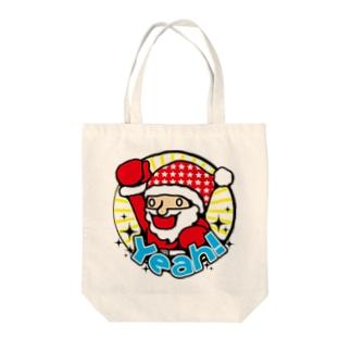 ハイテンションサンタ★クリスマスだYeah! Tote bags