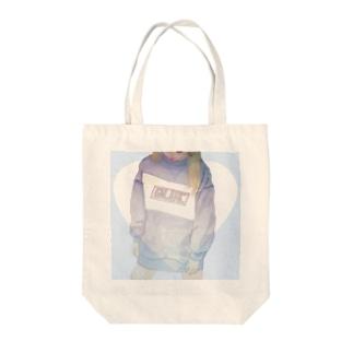 ぶるー。 Tote bags