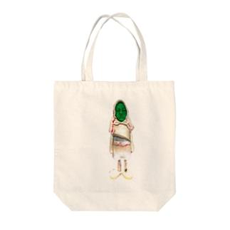 サイドール 緑顔 Tote bags