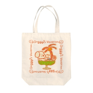 DOGGY'S VACATION Tote bags