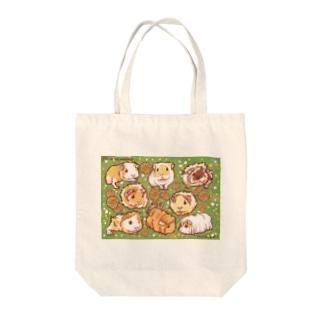 春の装いモルモット Tote Bag