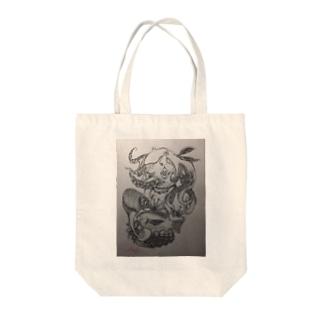 🎀#アマビエ 👁 Tote bags