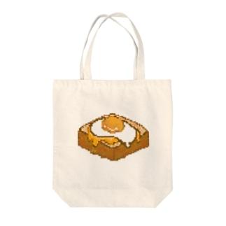 メダマヤキトースト ヲ テニイレタ !! Tote bags