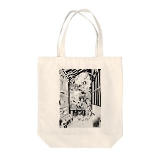 妖怪の夜 Tote bags