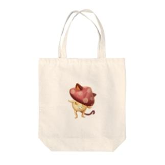 RPGシリーズーキノコ猫ー Tote bags
