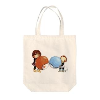 ボールあそび Tote bags