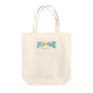 お花のリボン Tote bags