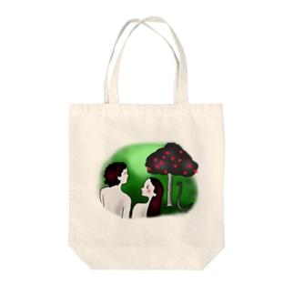 アダムとエバ Tote bags