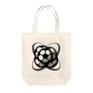 サッカーボール(ブレ球) Tote bags