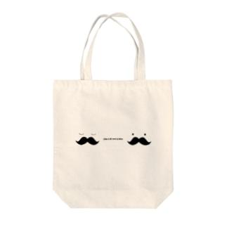 ひげ Tote bags