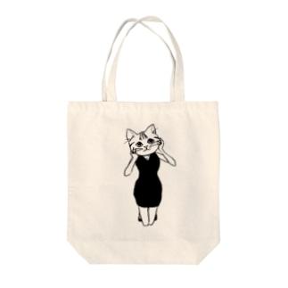 猫娘 Tote bags