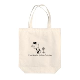 猫と花 Tote bags