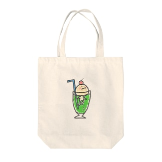 クリームソーダからの脱出を試みるアイス Tote bags