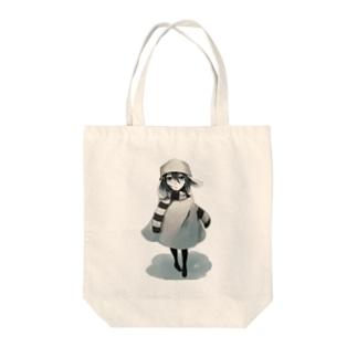 snowy Tote bags