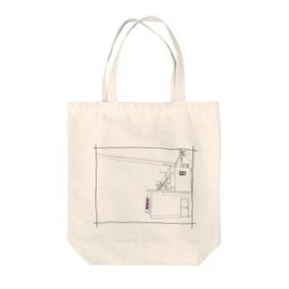 027団地床屋 Tote bags