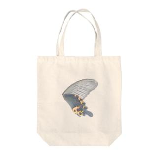 黒揚羽の翅 Tote bags