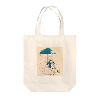 大好きな、雨降る雨傘☂ Tote bags